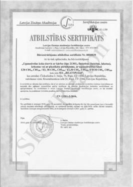 Kvalitātes sertifikāts 21601