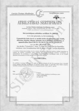 Kvalitātes sertifikāts 21640