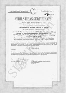 Kvalitātes sertifikāts 21701