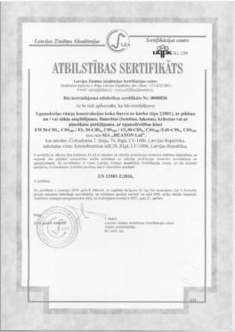 Kvalitātes sertifikāts 22001