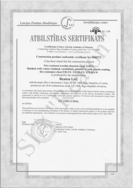 Quality certificates 21601