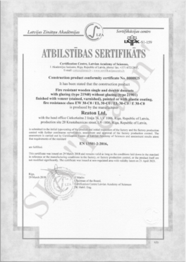 Quality certificates  21940/21901