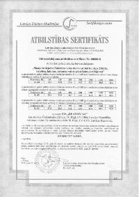Kvalitātes sertifikāts 21801