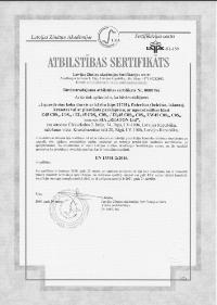 Kvalitātes sertifikāts - 21701