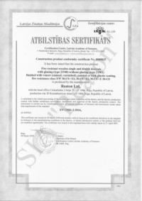 Kvalitātes sertifikāts 21940/21901